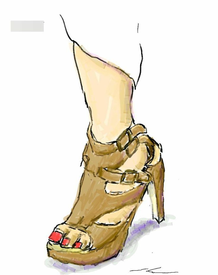 It is a sketch of brown leather shoes.  I drew while commuting on a train with the GALAXY Note.