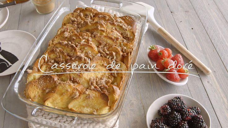 Cuisine futée, parents pressés : Casserole de pain doré