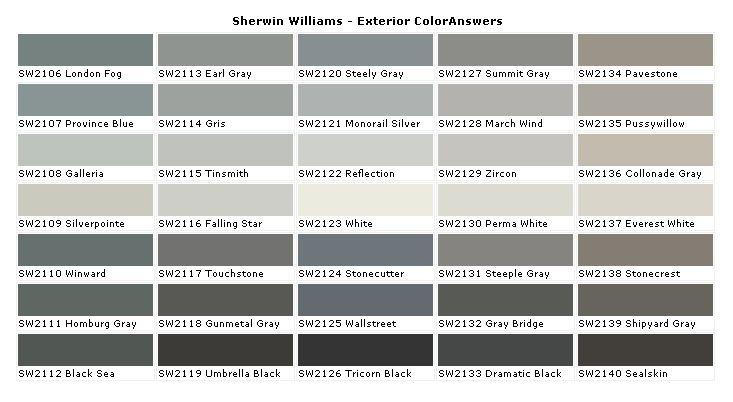 grey tones for exterior