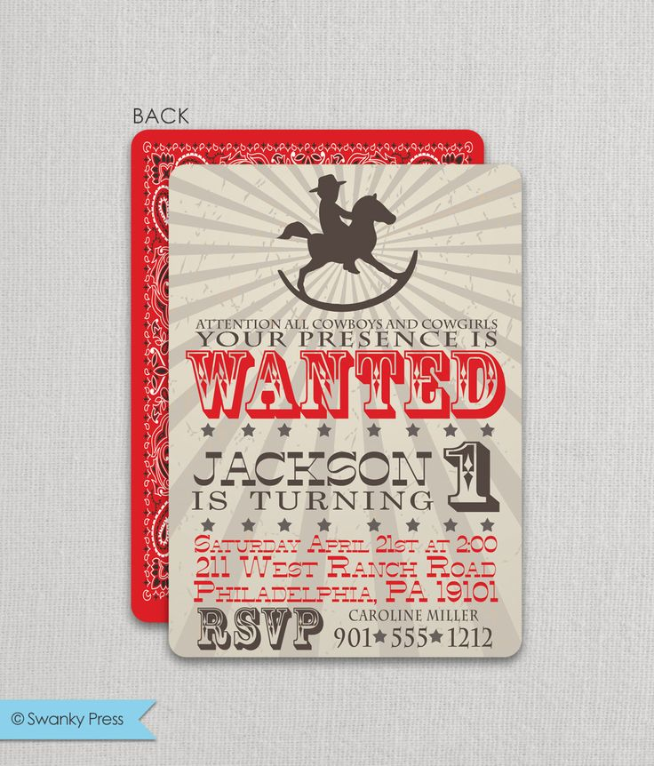 printable horse birthday party invitations free%0A Cowboy Birthday Invitation   Cowboy Party Invite   Rocking Horse Cowboy  Invitation   Cowboy Party