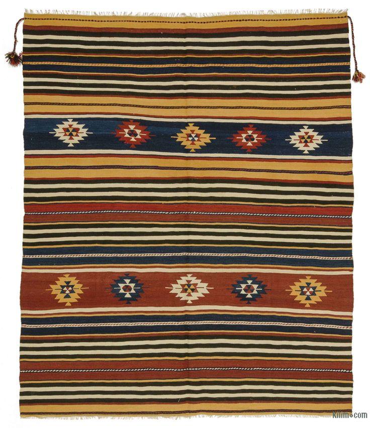 Multicolor Vintage Manastir Kilim Rug