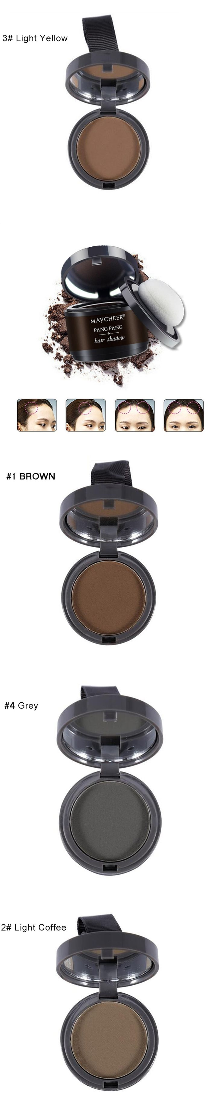 New 4 Color Hair Fluffy Powder Instantly Black Root Cover Up Natural Instant Hair Line Shadow Powder Hair Concealer Coverag