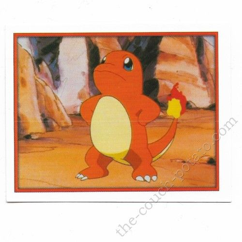 Pokemon Sticker Card  Charmander # 190 2x3 inches Merlin 2000 TV show pictures