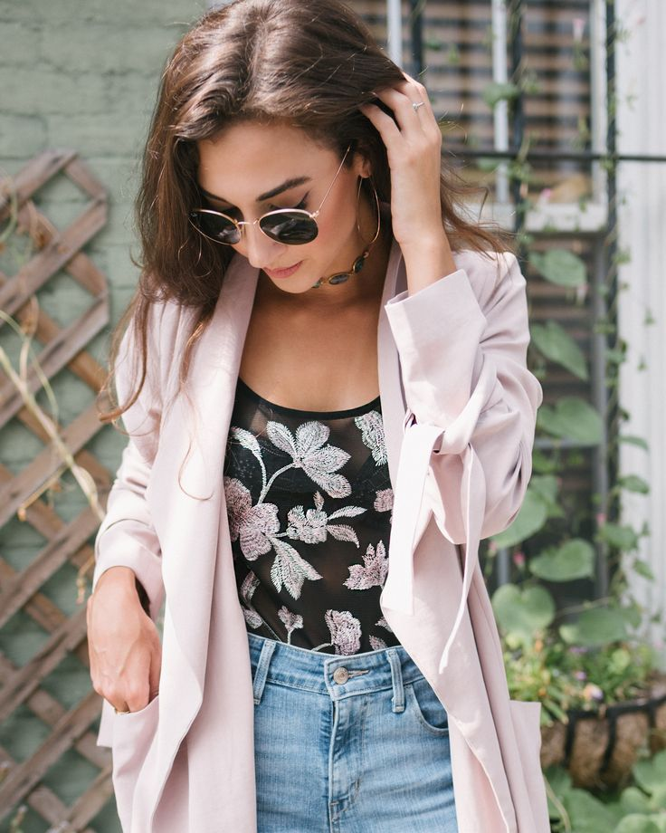 Blush Trench & Embroidered Details