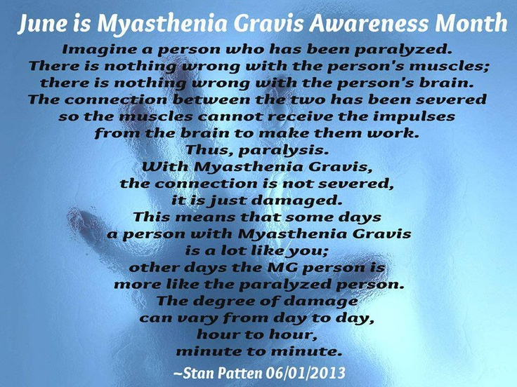 Myasthenia Gravis Be Aware ~ TY