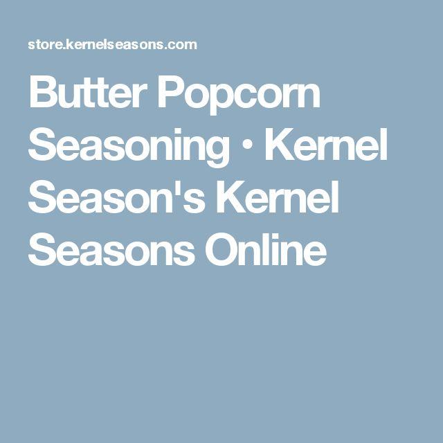 Butter Popcorn Seasoning • Kernel Season's Kernel Seasons Online
