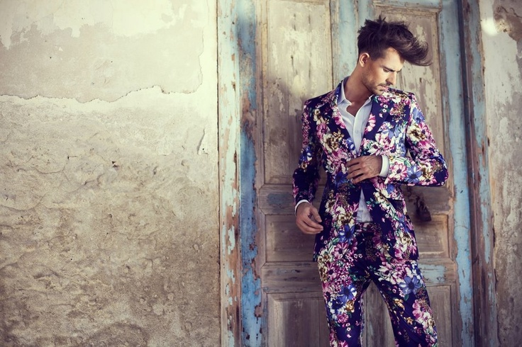 Cyprus 2012/ mens fashion / De La Garza / flower blazer