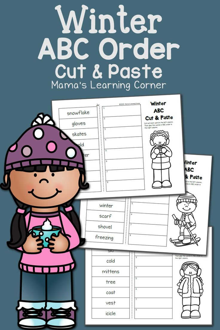 Winter Cut and Paste: ABC Order - a fun, wintry way to practice alphabetical order!