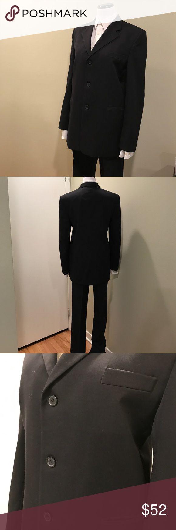 Young men's  suit size20 Young men's  black suit size20R in excellent condition worn ones Nordstrom Suits & Blazers Suits