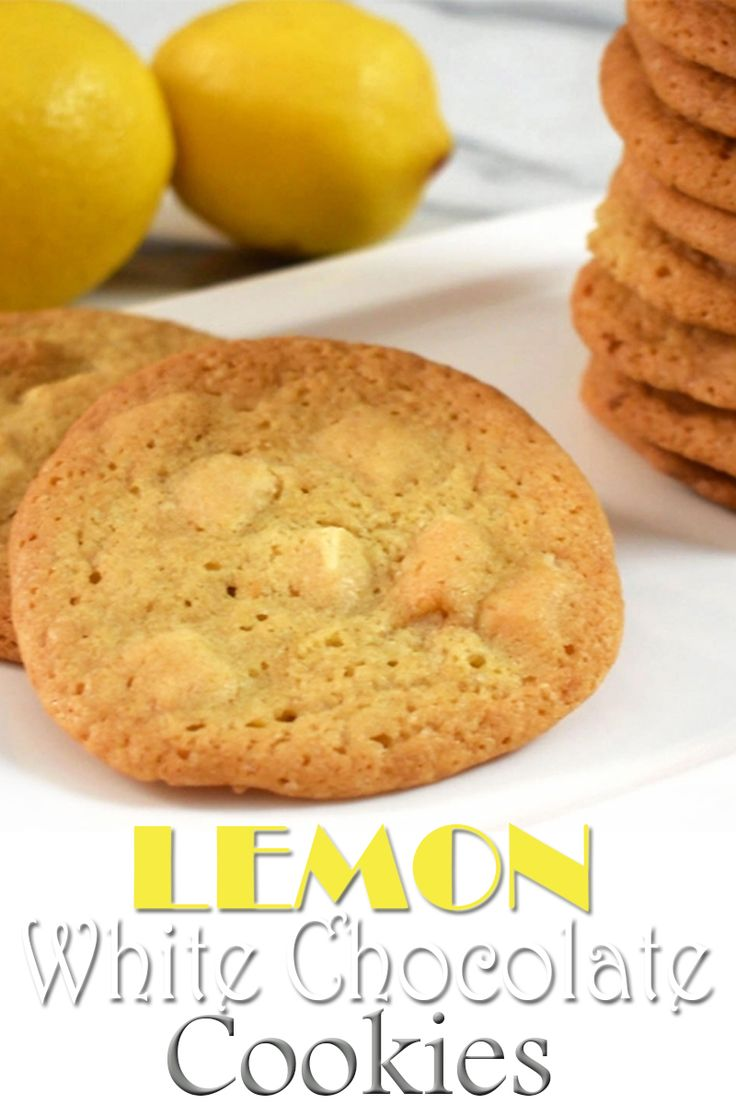 Lemon White Chocolate Cookies - I love lemon-white chocolate combination and if it is wrapped in chewy, soft, delicious, easy-to-make cookies, i like it even more :) These cookies are phenomenal and you can whip them up in 15 minutes.