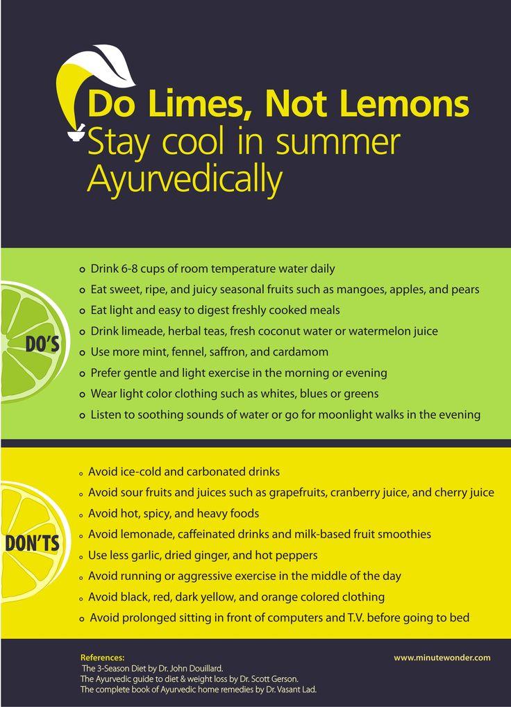 Do Limes, Not Lemons: Ayurvedic Tips For Summer