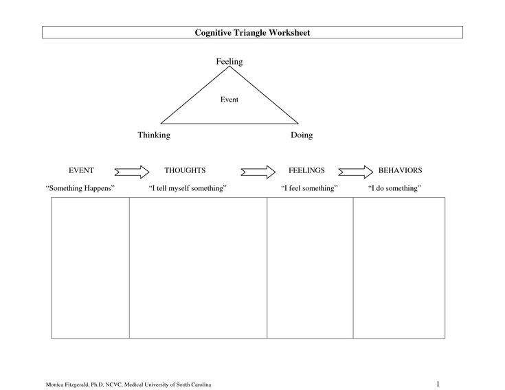 Printables Health Triangle Worksheet 1000 images about cbt info and worksheets on pinterest problem full size printable feelings cognitive triangle worksheet feeling thinking doing