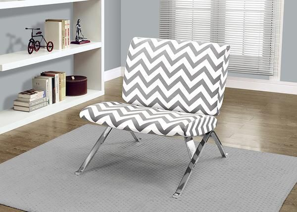 Clive Gray Chevron Chair Gray