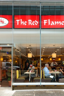 The Red Flame Coffee House/Diner. Had dinner here on our last night in the city. Loved it!