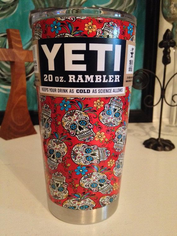 Unique Dipped Yeti Cups Ideas On Pinterest Yeti Cup - Sugar skull yeti cup