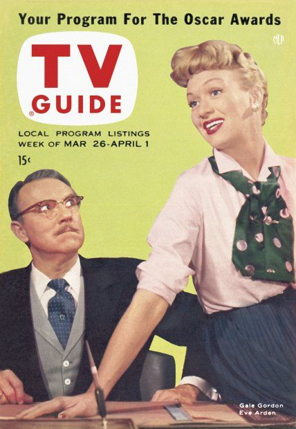 TV Guide, March 26, 1955 - Gale Gordon and Eve Arden