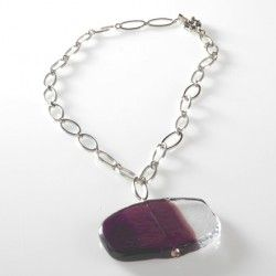 Antica Murrina Snow #Necklace Amethyst #jewellery #murano