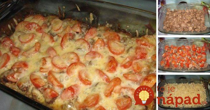 Rýchle, jednoduché a pritom výborné jedlo z hydinových pečienok, rajčín a syra.