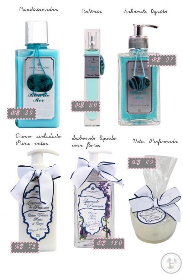 Perfume  Fragrâncias  Sabonete líquido  Vela  Hidratante  Tânia Bulhões