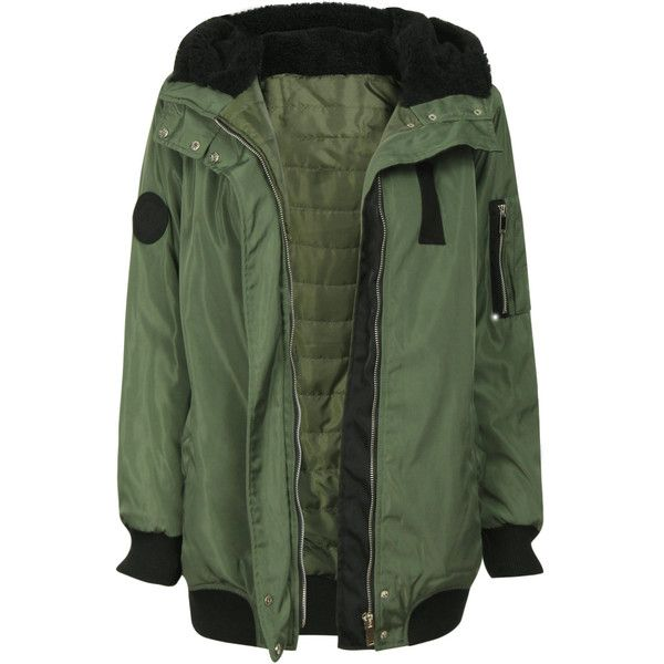 Yoins Fashion Green Zip Up Hooded Bomber Jacket with Pockets (2.140 UYU) ❤ liked on Polyvore featuring outerwear, jackets, hooded bomber jackets, blouson jacket, bomber jacket, zip up jackets and flight jacket