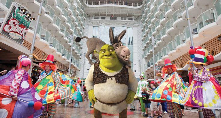 Shrek y Burro en Royal Caribbean