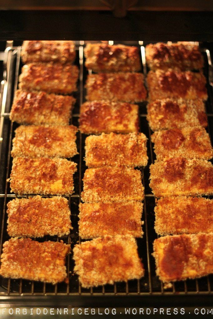 Baked Barbecue Panko Tofu- trying this when Shawn gets home.