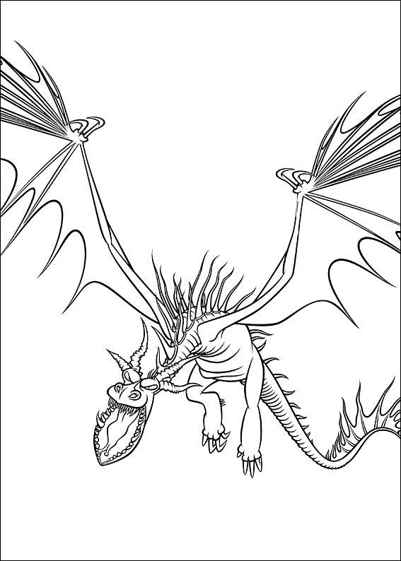 How To Train Your Dragon Coloring Pages For Kids Printable Online 4