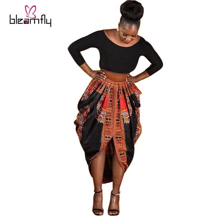Grosir gaun African untuk wanita Dashiki printed Dresses Wanita Pakaian Lengan Panjang Untuk wanita plus ukuran pakaian african