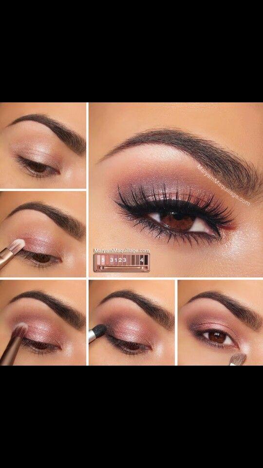 Beautiful Eye make up for brown eyes #naked3pallete