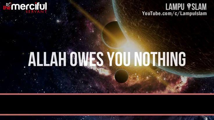 kita butuh Allah, Allah tidak butuh ibadah kita