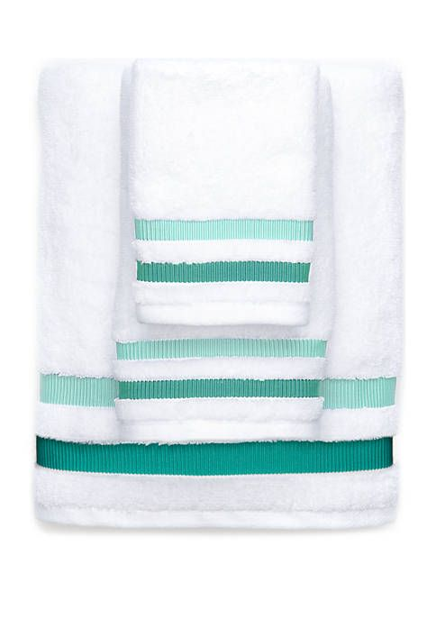 Double Stripe Weft Insert Towel
