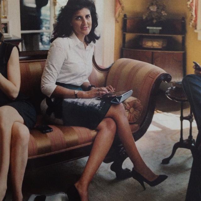 Nikki Haley Vogue Article Ports 1961 Shirt Narciso Rodriguez Skirt Donna Karan Heels My Style