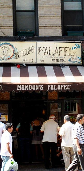 $3 plus late night The falafel or shawarma pita sandwiches at Mamoun's: | What's The Best Thing To Eat In NYC For Less Than $10?