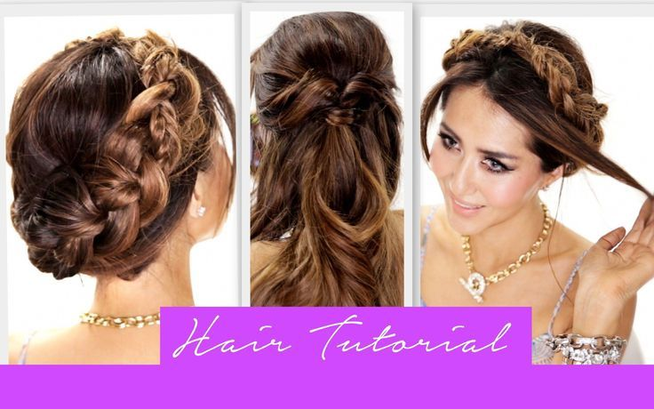 Cute hair tutorial; learn how to do 3 heatless, easy back-to-school hairstyles for long hair and medium hair; messy side braid, simple half-up half-do