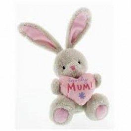 Bebunni Rabbit Medium Sitting with Heart 16 cms - Mum