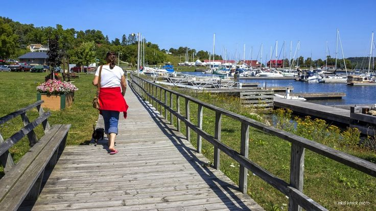 Marina Boardwalk in Gore Bay by Mikell Herrick