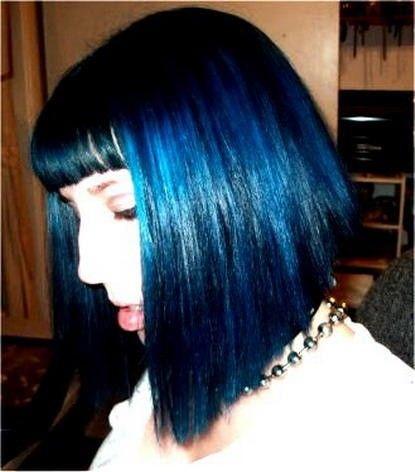 Blue Black Hair Color   Blue and black hair color.