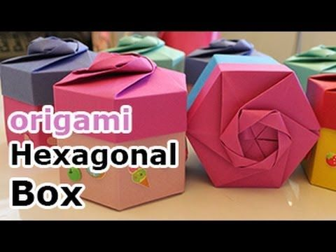 Origami Hexagonal Gift Box (Non Modular) - YouTube