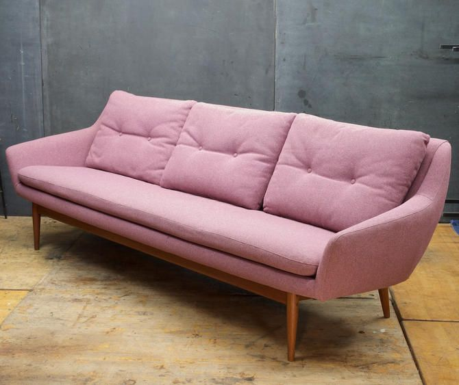 Teak Sofa Vintage Mid Century Modern