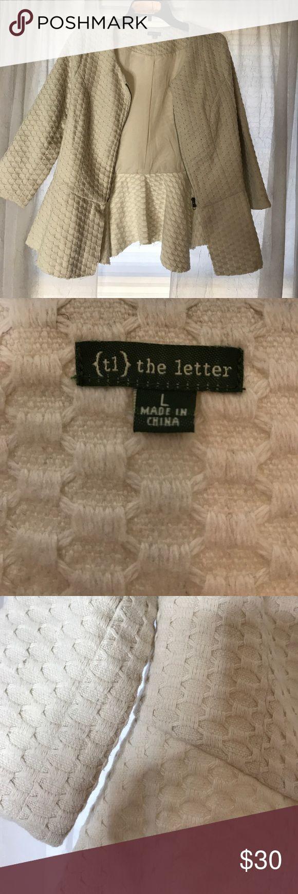 White zip up jacket White zip up jacket or blazer. Never worn! The Letter Jackets & Coats