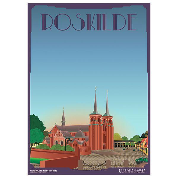 Limited edition plakat af Roskilde Domkirke