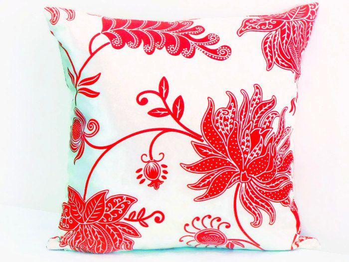 Flower tropical pillow sham 20x20 18x18 pillow cover by SABDECO