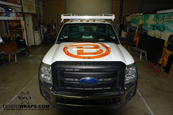 Construction utility wrap wrap installed at DesertWraps.com in Palm Desert, CA. Truck wraps, car wraps, van wraps, bus wraps, fleet wraps. 760-935-3600