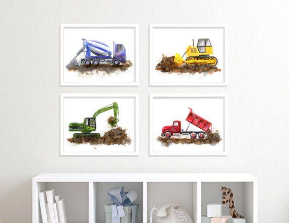 Junge Kindergarten Dekor  Wandkunst am Bau  Zement LKW Print