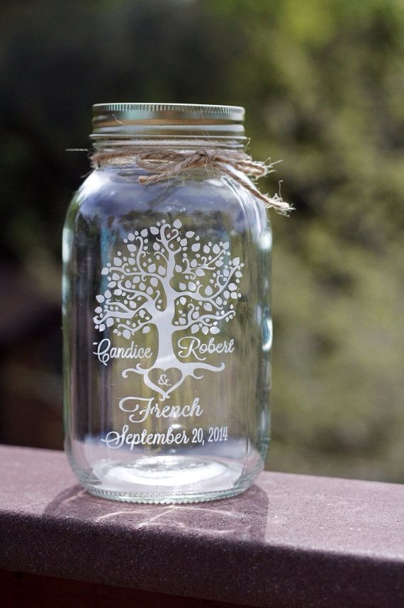 Sand Ceremony Tree of Life Mason Jar Tree of by EtchedExpressions
