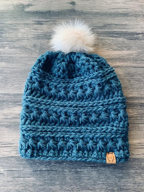 74730066dea ADULT Hillside Handmade Signature Beanie Antique Teal Beanie -- Slouch  Beanie -- Woman s Accessories