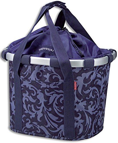 Klickfix Reisenthel Bike basket Design Barock navy ** Visit the image link more details.