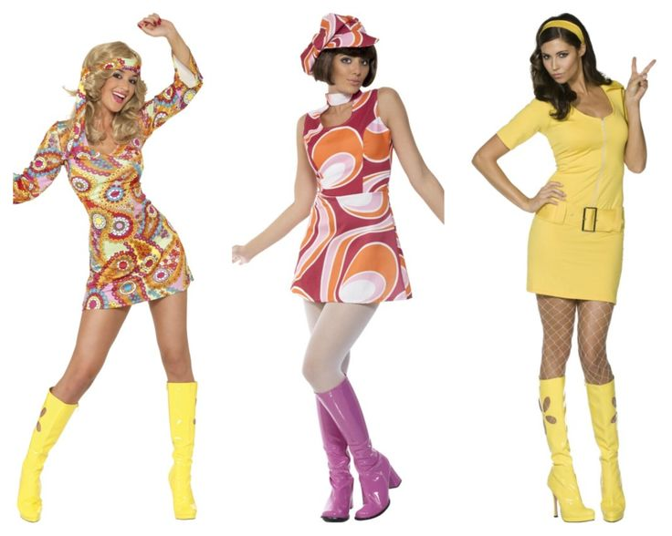 1960s 1970s flower child costumes