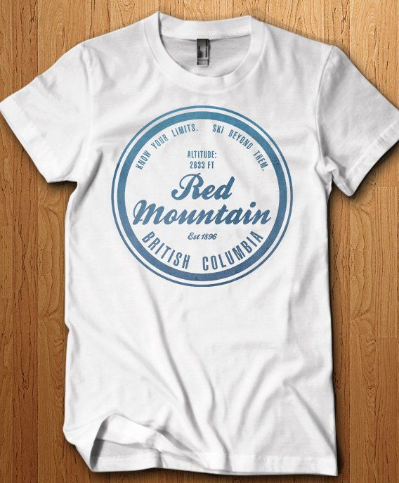 Red Mountain Ski Resort Shirt British Columbia T Shirt Skiing Gift Idea Snowboarding Holiday Family Vacation Memories Snow Mountain Park