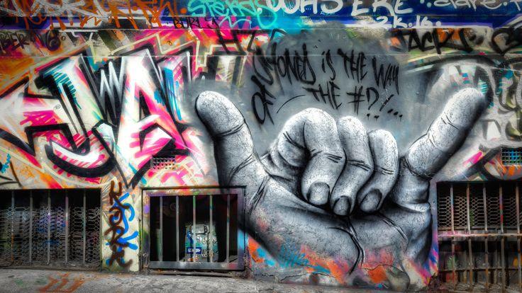 Stoned - Street art in Hosier Lane | March 2017